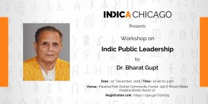 Workshop on Indic Public Leadership by Dr Bharat Gupt.
