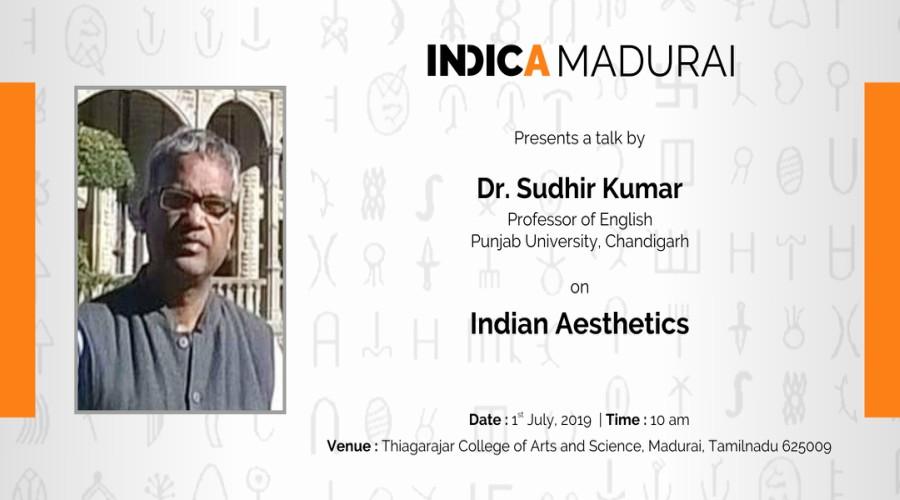 "Indic Talk On ""Indian Aesthetics"" By Dr. Sudhir Kumar"