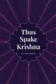'Thus Spake Krishna' by Prof. V Krishnamurthy